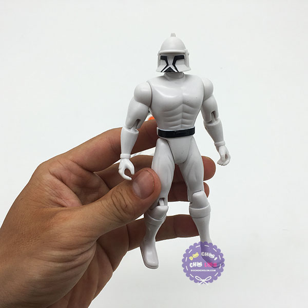 Vỉ đồ chơi súng siêu nhân Star War dùng pin có đèn nhạc