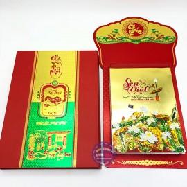Lịch Tết Bloc Siêu Đại Sen Việt bảng treo Metalize 2019 (20x30)