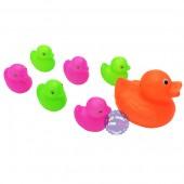 Bộ đồ chơi đàn vịt con và vịt mẹ bằng nhựa túi lưới