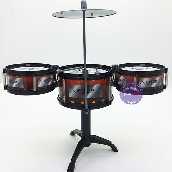 Hộp đồ chơi bộ trống Jazz Drum 3 cái kèm chập cheng TH688