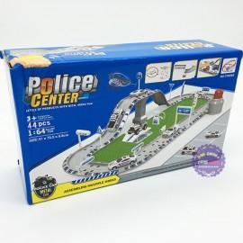 Hộp đồ chơi đường ray bãi đậu xe cảnh sát Police Center