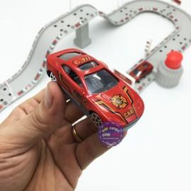 Hộp đồ chơi đường ray bãi đậu xe cứu hỏa Firefighting Center