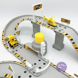 Hộp đồ chơi đường ray bãi đậu xe công trình Construction Center