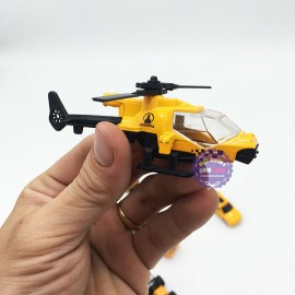Hộp đồ chơi các loại xe công trình bằng sắt 6 chiếc Die-Cast Model