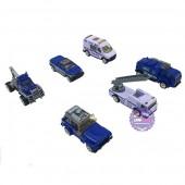 Hộp đồ chơi các loại xe cảnh sát bằng sắt 6 chiếc Die-Cast