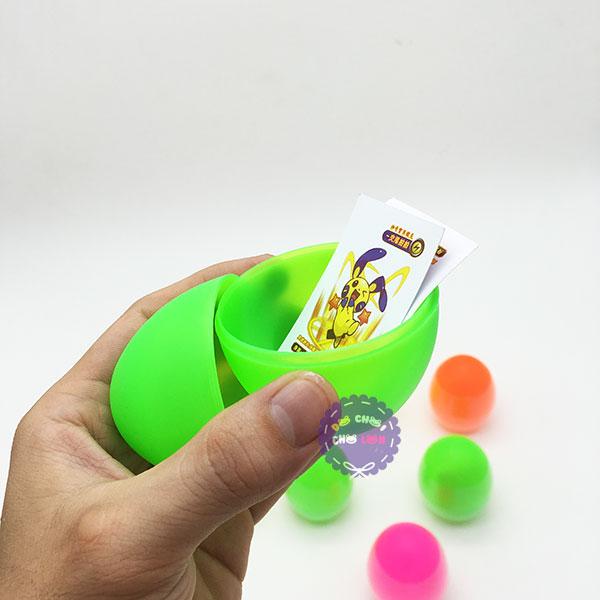 Bộ đồ chơi bóc trứng surprise bằng nhựa (10 quả trơn)