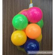 Đồ chơi bóng nhựa nhiều màu 10 trái túi lưới