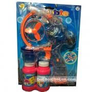 Vỉ đồ chơi súng bắn bong bóng tự động trong suốt bubble gun