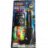 Vỉ đồ chơi súng cảnh sát 2 nòng bowling bắn đạn nhựa hít tường