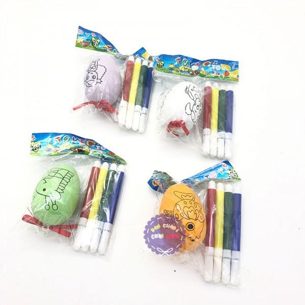 Bộ đồ chơi tô màu quả trứng & bút lông bằng nhựa