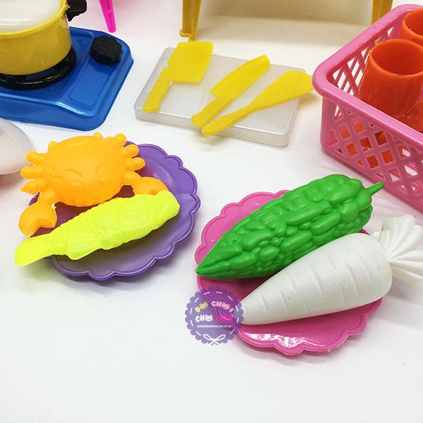 Bộ đồ chơi đồ hàng bàn ghế nấu ăn bằng nhựa Vĩnh Phát