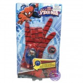 Vỉ đồ chơi bao tay người nhện bắn 4 đĩa nhạc đèn