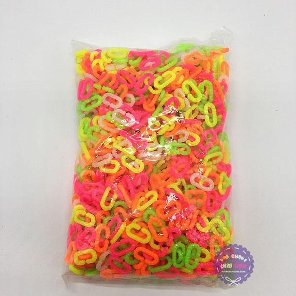 Bộ đồ chơi ghép móc xích (500 gram - khoảng 1100 móc)