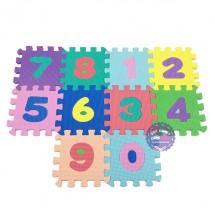 Bộ đồ chơi 10 miếng xốp ghép lót sàn hình chữ số 0-9 14.5x14.5
