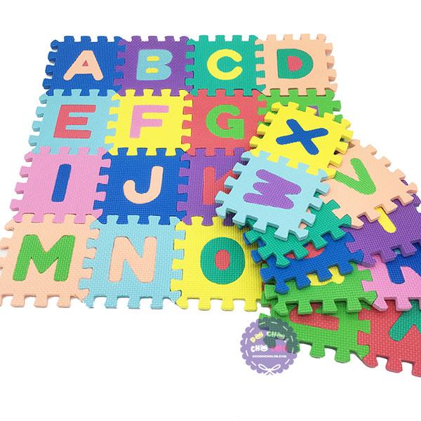 Bộ đồ chơi 26 miếng xốp ghép lót sàn hình chữ cái A-Z 14.5x14.5