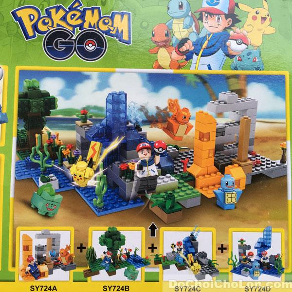 Bộ 4 hộp đồ chơi lắp ráp Pokemon Go