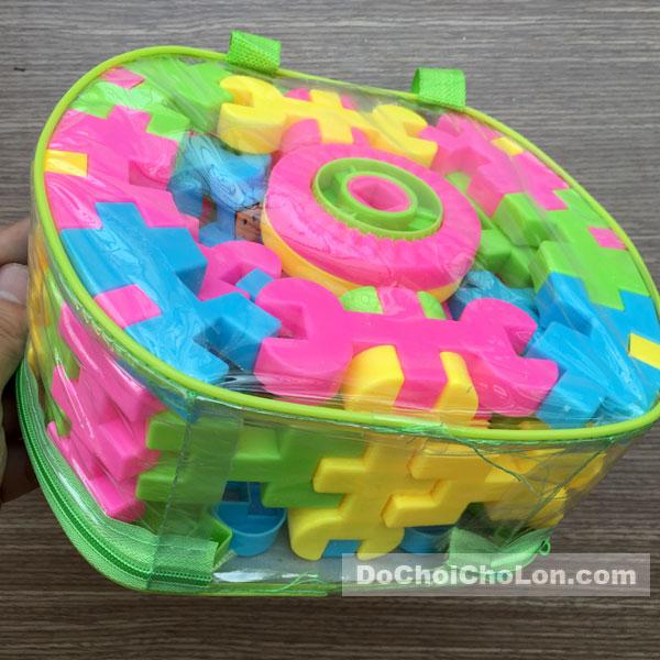 Giỏ đồ chơi lắp ráp, xếp hình 72 mảnh ghép