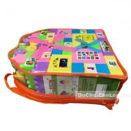 Cặp đồ chơi lắp ráp, xếp hình 96 mảnh ghép