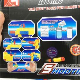 Hộp đồ chơi súng tiểu liên MP7 bắn đạn xốp đạn nước