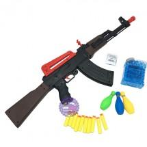 Hộp đồ chơi súng bắn đạn xốp đạn nước AK47