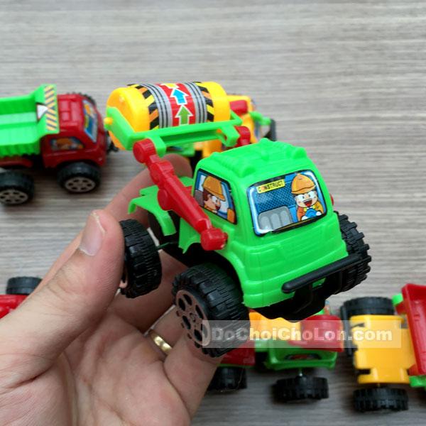 Vỉ đồ chơi 6 xe công trình chạy trớn