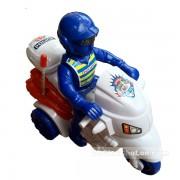 Đồ chơi xe mô tô cảnh sát 3 bánh chạy bằng dây cót