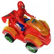 Hộp đồ chơi xe mô tô địa hình người nhện 4 bánh