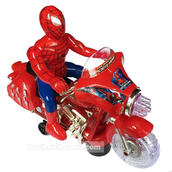 Hộp đồ chơi xe mô tô người nhện bánh đèn