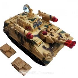 Hộp đồ chơi xe tăng chiến đấu dùng pin