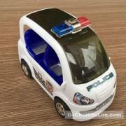 Hộp đồ chơi xe ô tô cảnh sát đèn 3D