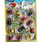 Vỉ đồ chơi 12 xe đua mini Race Lightning chạy trớn