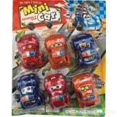 Vỉ đồ chơi xe cảnh sát mini 6 chiếc chạy trớn