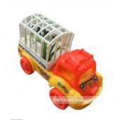 Đồ chơi xe ô tô tải 4 bánh chở động vật chạy bằng dây cót
