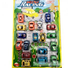 Vỉ đồ chơi 18 xe đua mini chạy trớn
