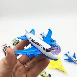 Vỉ đồ chơi 12 xe đua máy bay bằng nhựa chạy trớn XY10