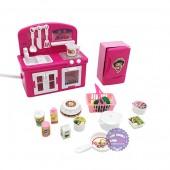 Hộp đồ chơi nhà bếp: lò nướng, bồn rửa chén, tủ lạnh dùng pin