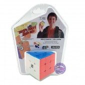 Vỉ đồ chơi Rubik Magic Cube trơn 3 hàng 3x3 bằng nhựa YJ8502