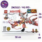 Hộp đồ chơi lắp ráp Ninja rồng Đỏ ZIMO 410 miếng ZM2502