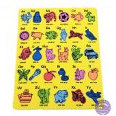 Đồ chơi bảng chữ cái xếp hình con vật và đồ vật bằng mút xốp